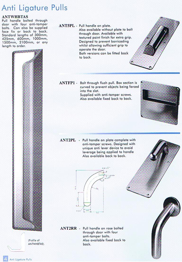 High quality, anti-tamper door handles.